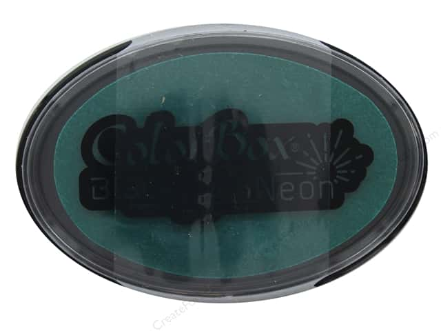 ColorBox Blacklight Neon Oval Ink Pad Jade