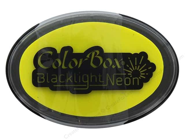 ColorBox Blacklight Neon Oval Ink Pad Sunny