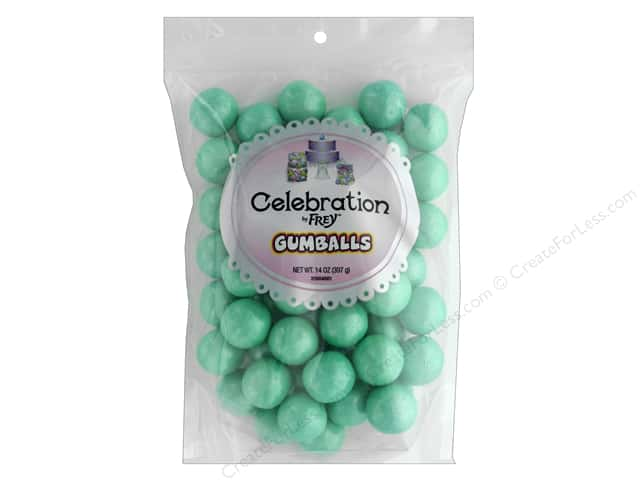 SweetWorks Celebration Gumballs 14 oz Stand Up Bag Shimmer Turquoise