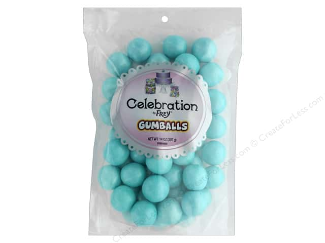 SweetWorks Celebration Gumballs 14 oz Stand Up Bag Shimmer Blue