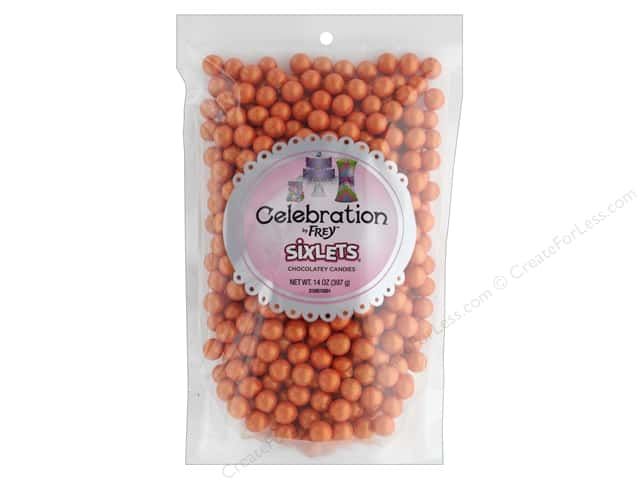SweetWorks Celebration Sixlets 14 oz. Shimmer Orange