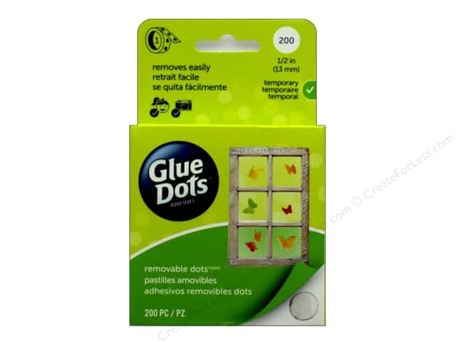 Glue Dots Roll Removable 1/2 in. 200 pc.