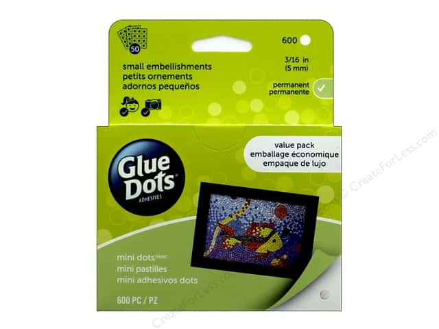 Glue Dots Value Pack Mini 3/16 in. 600 pc.