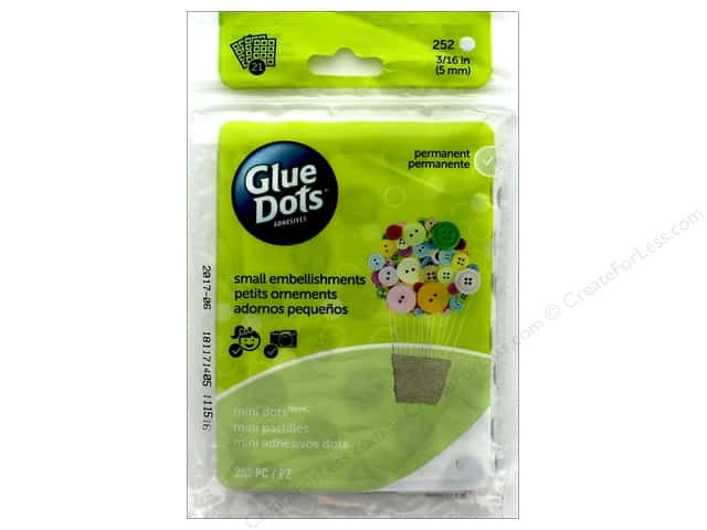Glue Dots Sheet Mini 3/16 in. 252 pc.