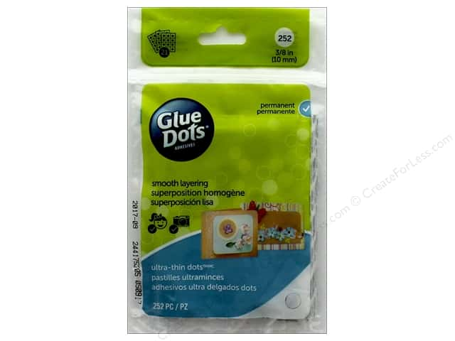 Glue Dots Sheet Ultra Thin 3/8 in. 252 pc.