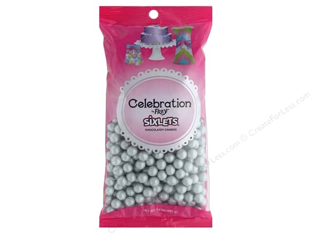 SweetWorks Celebration Sixlets 14 oz. Shimmer Silver