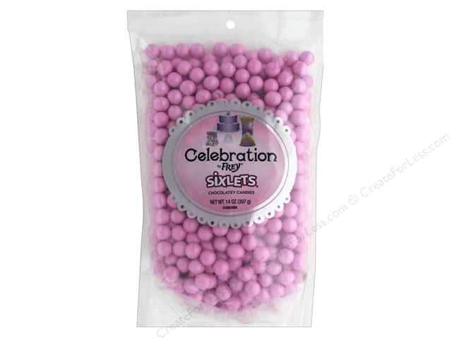 SweetWorks Celebration Sixlets 14 oz. Shimmer Light Pink