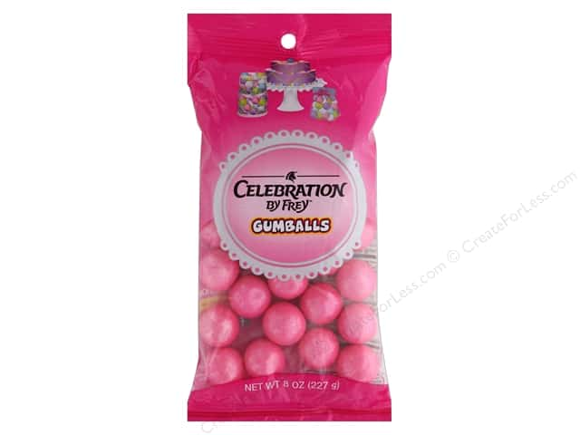 SweetWorks Celebration Gumballs 8 oz. Shimmer Pink