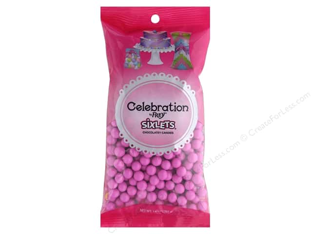 SweetWorks Celebration Sixlets 14 oz. Hot Pink