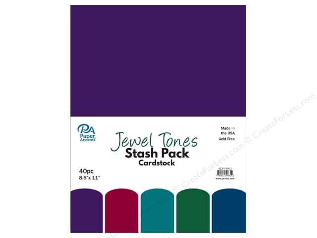 Paper Accents Cardstock Stash Pack 8 1/2 x 11 in. Jewel Tones 40 pc.