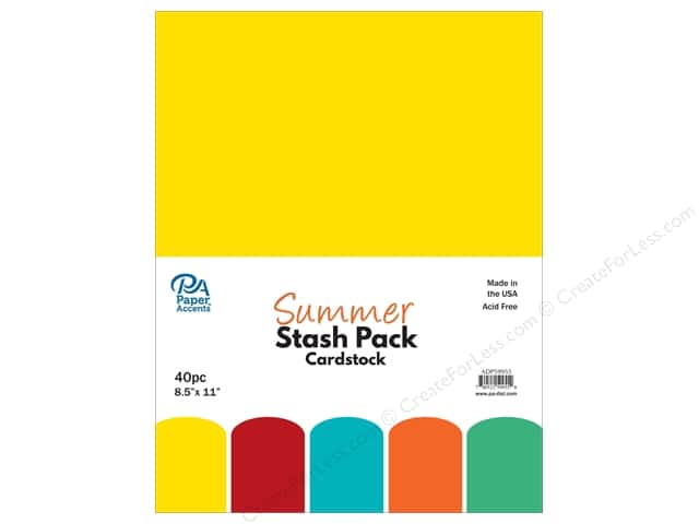 Paper Accents Stash Pack Cardstock 8.5 in. x 11 in. Summer 40 pc