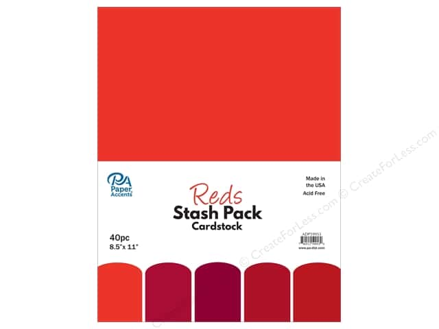 Paper Accents Cardstock Stash Pack 8 1/2 x 11 in. Reds 40 pc.