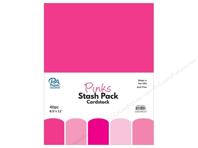 Paper Accents Stash Pack Cardstock 8.5 in. x 11 in. Pinks 40 pc