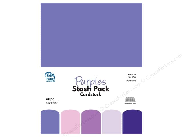 Paper Accents Stash Pack Cardstock 8.5 in. x 11 in. Purples 40 pc