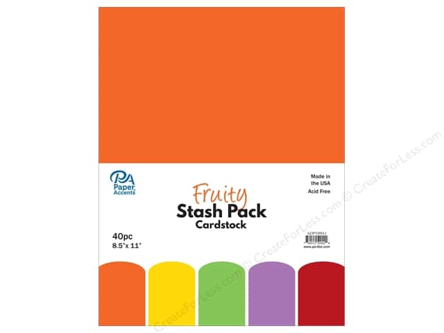 Paper Accents Stash Pack Cardstock 8.5 in. x 11 in. Fruity 40 pc