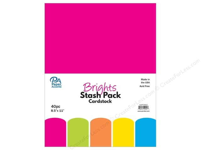 Paper Accents Cardstock Stash Pack 8 1/2 x 11 in. Brights 40 pc.