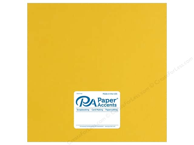 Paper Accents Cardstock 12 x 12 in. Muslin Daffodil (25 sheets)