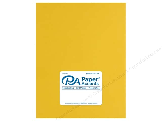 Paper Accents Cardstock 8 1/2 x 11 in. Muslin Bright Yellow (25 sheets)