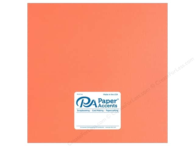 Paper Accents Cardstock 12 x 12 in. Muslin Sherbet (25 sheets)