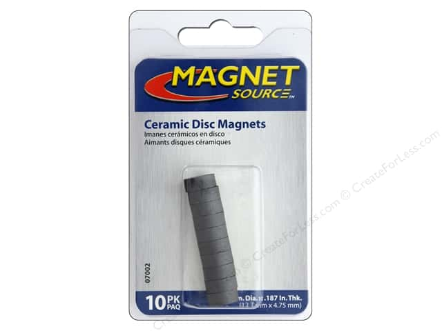 The Magnet Source Ceramic Disc Magnets 1/2 in. 10 pc.