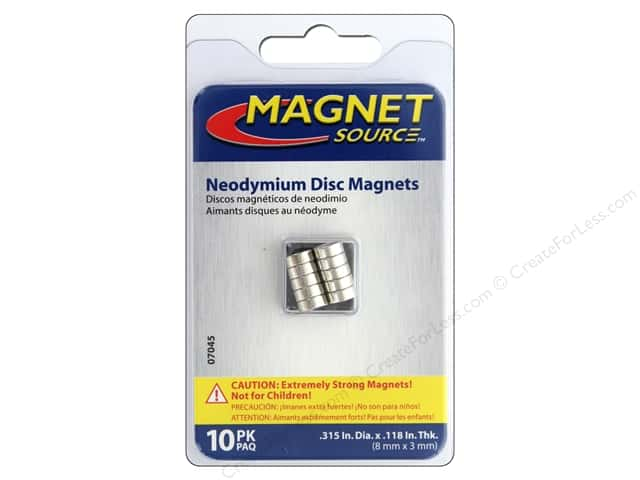 The Magnet Source Super Neodymium Magnet Discs 1/3 in. 10 pc.