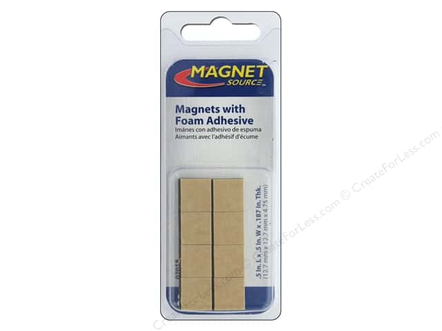 The Magnet Source High Energy Adhesive Magnets 1/2 in. Square 8 pc.