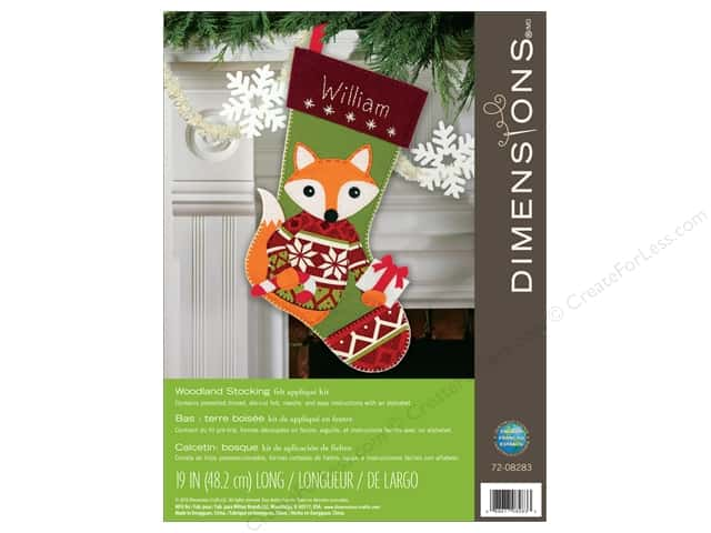 Dimensions Applique Kit Felt Woodland Stocking
