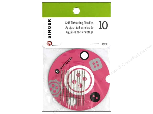 Singer Notions Hand Needle Self-Thread with Magnetic Holder 10 pc