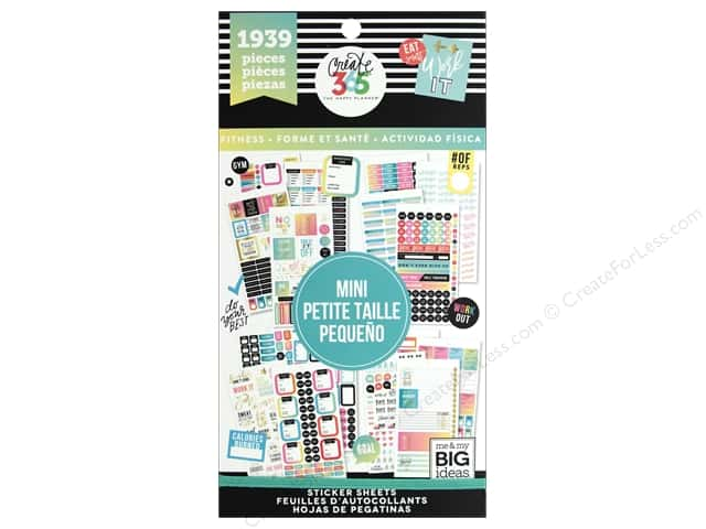 Me&My Big Ideas Collection Create 365 Happy Planner Sticker Value Pack Mini Fitness