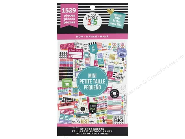 Me&My Big Ideas Create 365 Happy Planner Sticker Value Pack Mini Mom