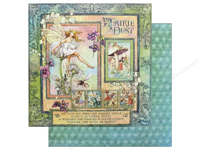 Graphic 45 Fairie Dust Paper 12 in. x 12 in. (25 pieces)