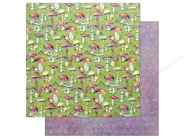 Graphic 45 Fairie Dust Paper 12 in. x 12 in. Tiny Toadstools (25 pieces)