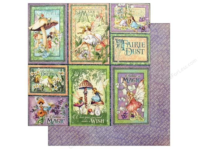 Graphic 45 Fairie Dust Paper 12 in. x 12 in. Dreamland (25 pieces)