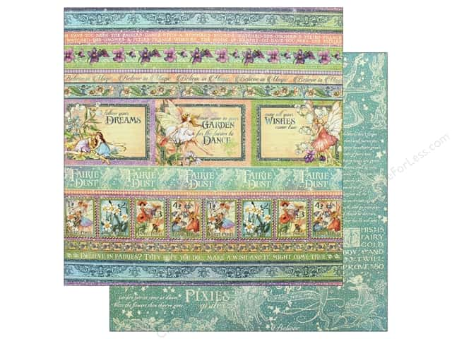 Graphic 45 Fairie Dust Paper 12 in. x 12 in.  Magic Wishes (25 pieces)