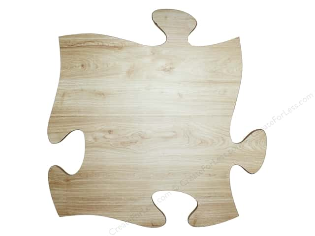 Sierra Pacific Crafts Wood Wall Art Puzzle Piece 15.5 in. x 15.5 in.  Natural