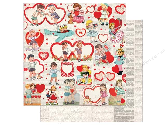 Authentique Lovestruck Paper 12 in. x 12 in. One (25 pieces)