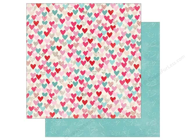 Authentique Lovestruck Paper 12 in. x 12 in. Two (25 pieces)
