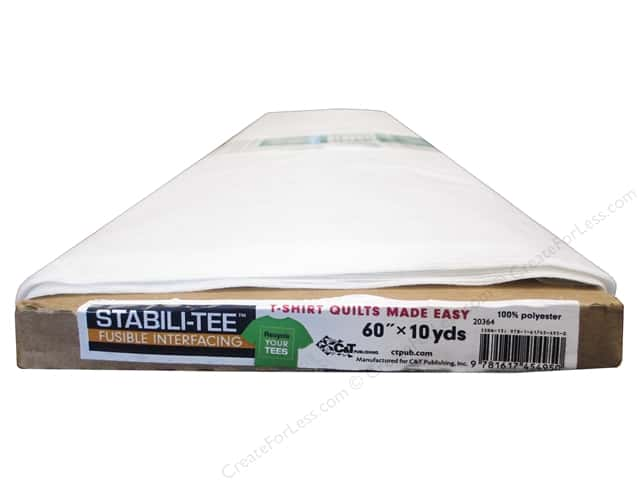 C&T Publishing Interfacing Stabili-TEE Fusible 60 in.  10 yd Bolt