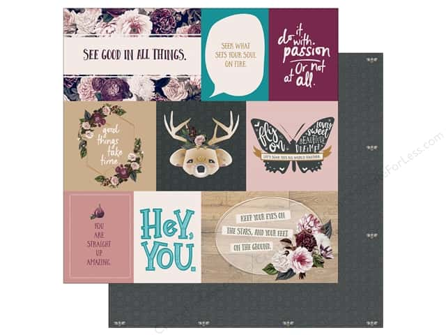Photo Play Gypsy Rose Collection Paper 12 in. x 12 in.  Be Strong (25 pieces)