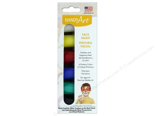 Handy Art Face Paint Set .75 oz Primary 6 pc