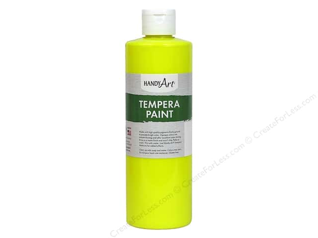Handy Art Tempra Paint 16 oz. Fluorescent Yellow