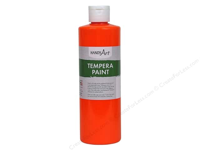Handy Art Tempra Paint 16 oz. Fluorescent Orange