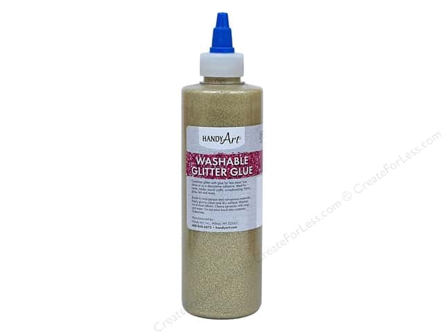 Handy Art Glitter Glue Washable 8 oz Gold