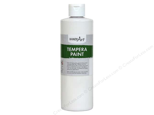 Handy Art Tempera Paint 8 oz. White