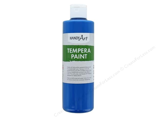 Handy Art Tempra Paint 8 oz. Fluorescent Blue