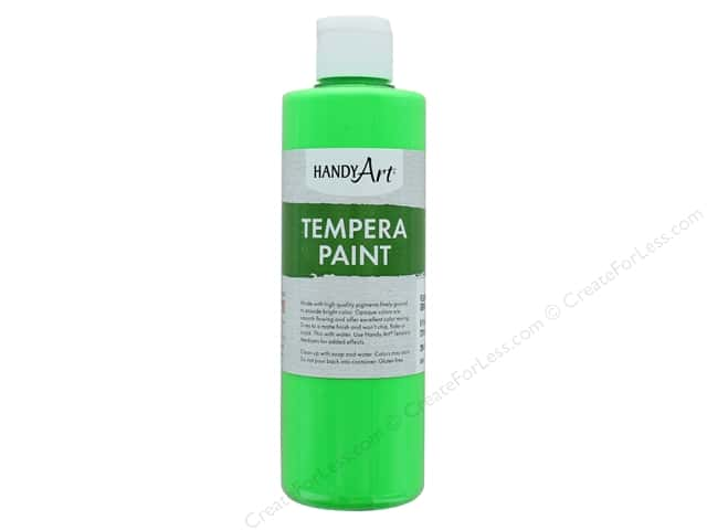 Handy Art Tempra Paint 8 oz. Fluorescent Green