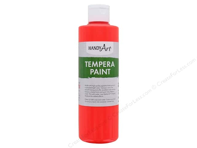 Handy Art Tempra Paint 8 oz. Fluorescent Red
