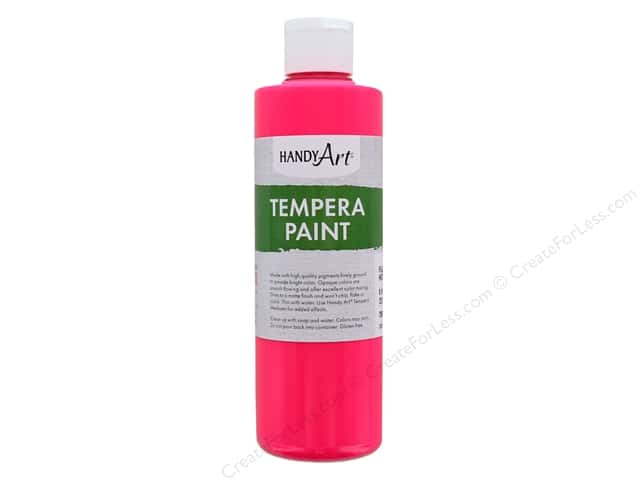 Handy Art Tempra Paint 8 oz Fluorescent Hot Pink