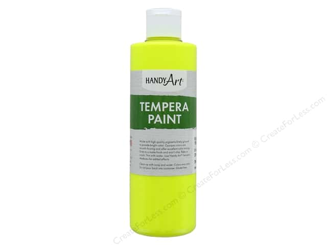 Handy Art Tempra Paint 8 oz Fluorescent Yellow