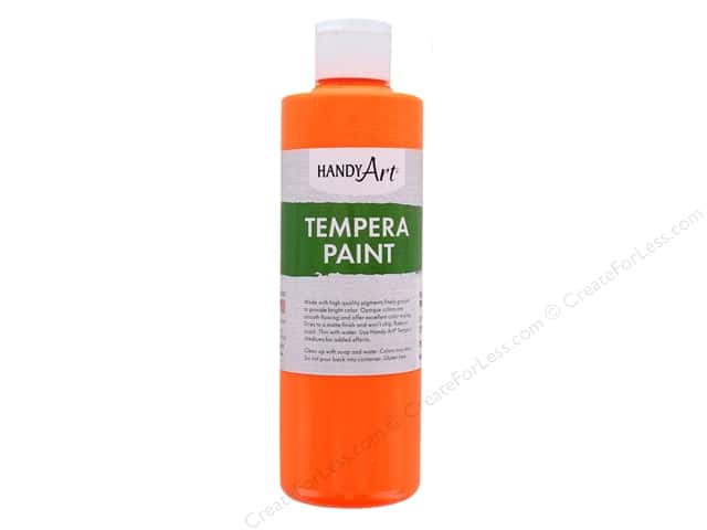 Handy Art Tempra Paint 8 oz Fluorescent Orange